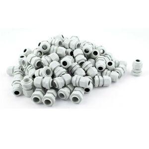 PG9 Bílá vývodka pro kabel 4-8mm vodotěsná