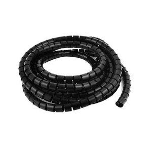 Spirálový chránič kabelů černý, průměr 10mm, délka 10m