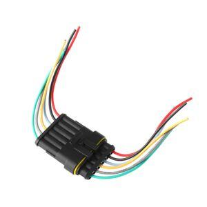 Auto konektor AC/DC 6 pinů - vodotěsný, samec + samice