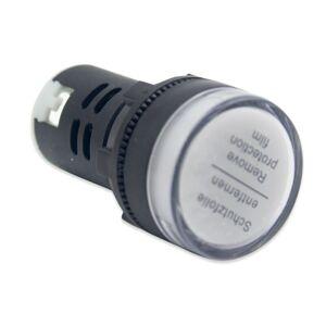 Signální LED světlo 22mm AC/DC 12V – bílá