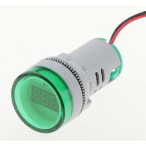 Ampérmetr AC 24-500V 22mm - zelený