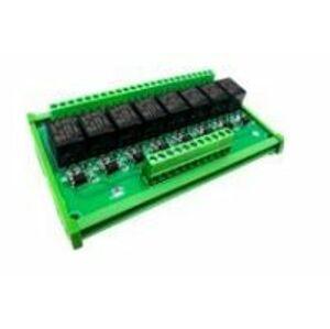 Modul relé 24V High-Low - 8 kanálů na DIN lištu